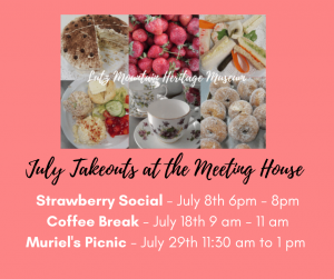 July food events Lutz Mountain Meeting House